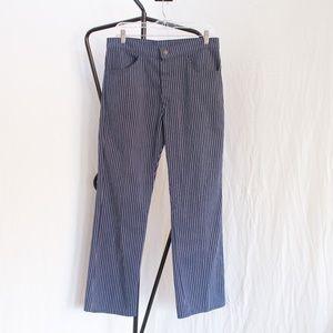 Vintage Levi's Blue/White Pinstripe Denim Slacks